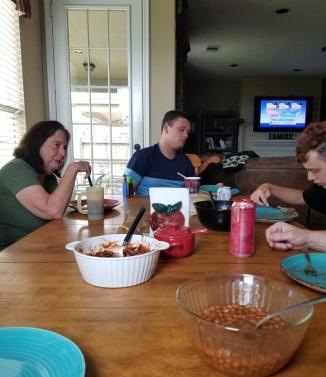 Eating Brisket